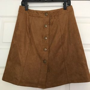 Xhiliration suede tan skirt size XS
